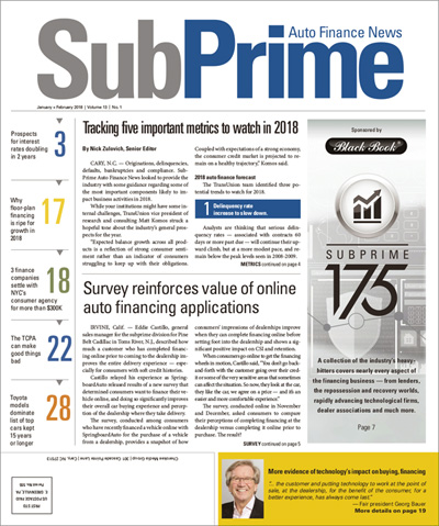 Subscribe to SubPrime Auto Finance News