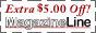 $5.00 off Magazineline banner