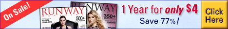 Runway Magazine One Year Only 4 Dollars
