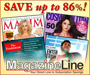 Save up to 86% on Magazines