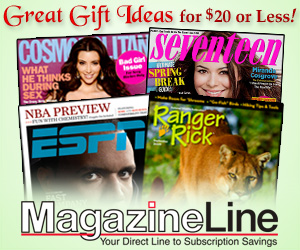 Magazineline.com - Great Gift Ideas for $20 or less