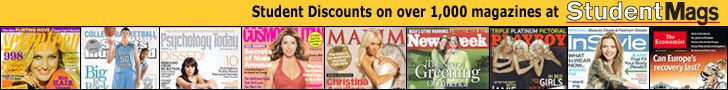 Deep Discounts on Magazines Popular with Students - including Time, Maxim, Sports Illustrated, Newsweek, and many more