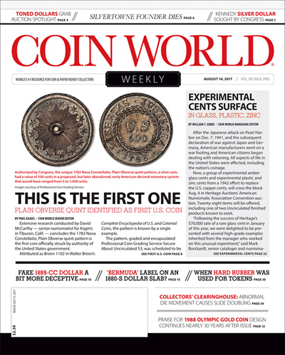 Subscribe to Coin World Weekly