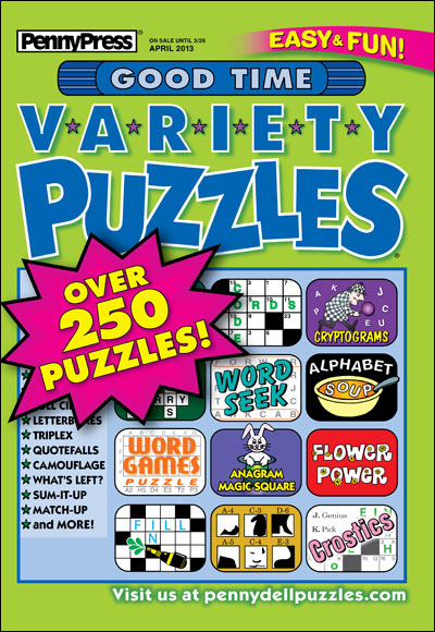 Subscribe to Good Time Variety Puzzles